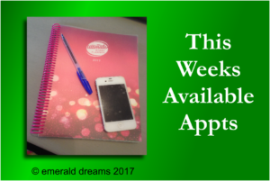w/c 5th June 2017 – Available Appts
