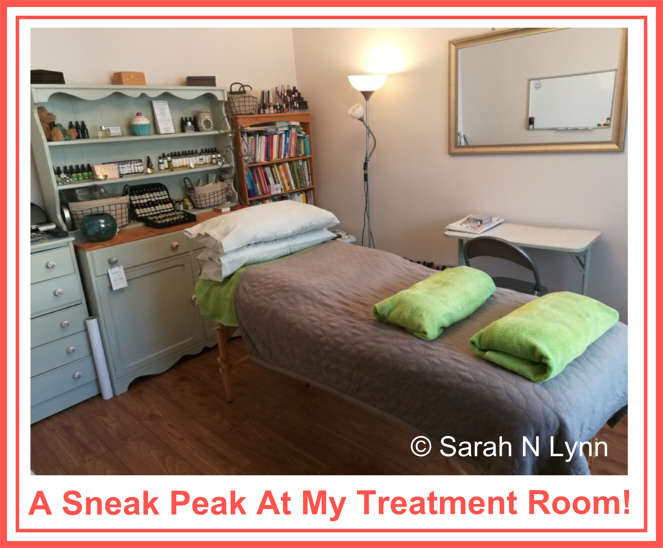 A sneak peak at my treatment room